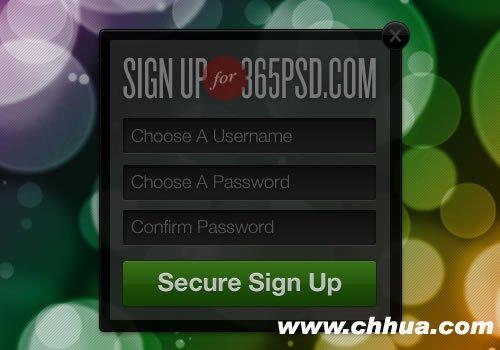 99个漂亮的注册和登录页面设计(附PSD)