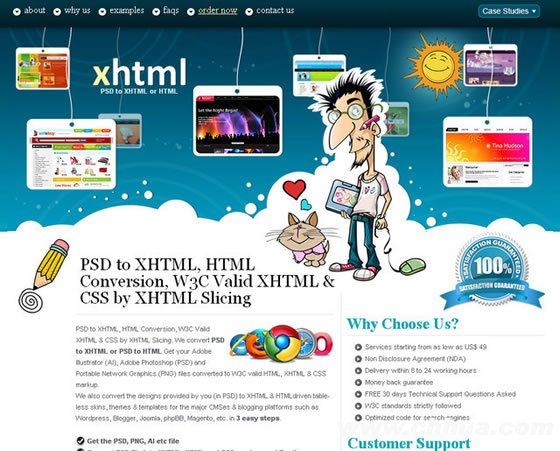 XHTML Slicing
