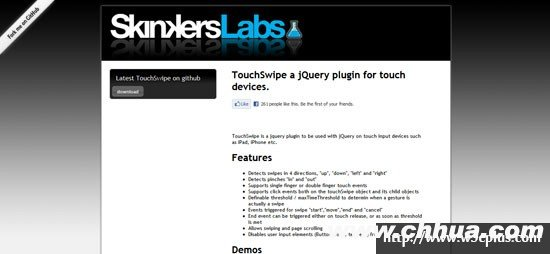 TouchSwipe: a jQuery plugin for touch devices