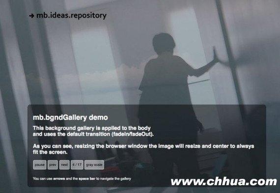 jQuery图片滑动切换插件 - MB Bgnd