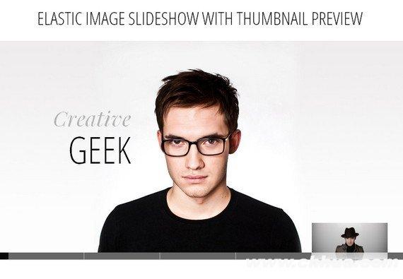 jQuery图片滑动切换插件 - Elastic Image Slideshow