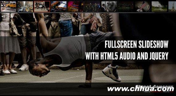 jQuery图片滑动切换插件 - 全屏+HTML5+声音的jQuery滑动切换插件