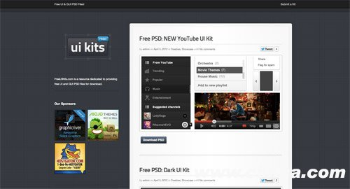 View UI kits from FreeUIKits