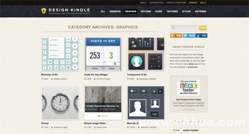 View UI kits from Design Kindle